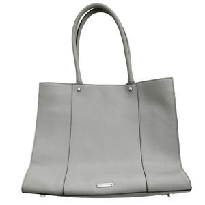 REBECCA MINKOFF Gray Morning After Bag Saffiano Leather Large Tote